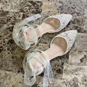 KAILEE P lace Pointy Toe Ballerina wedding flat